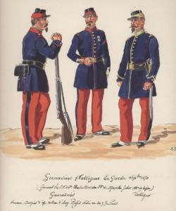 Uniformes de l'infanterie de l'Ex-Garde Impériale en septembre 1870 dans Uniformes ex-grenadier-et-voltigeur-de-la-garde-sept-1870-250x300