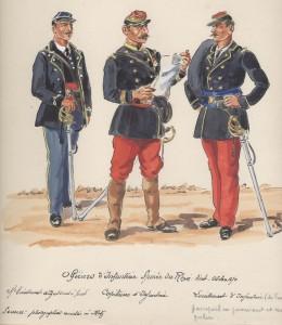 Uniformes des officiers d'infanterie de l'armée du Rhin Août-Octobre 1870 dans Uniformes officier-dinfanterie-armee-du-rhin-260x300